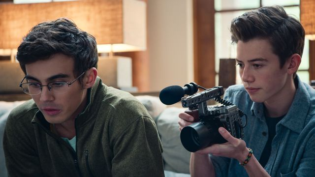 Peter (left) and Sam in American Vandal's second season.