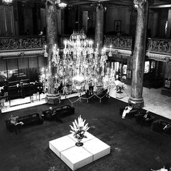 A look down to the lobby of the old Hotel Utah with a photo taken July 13, 1974.