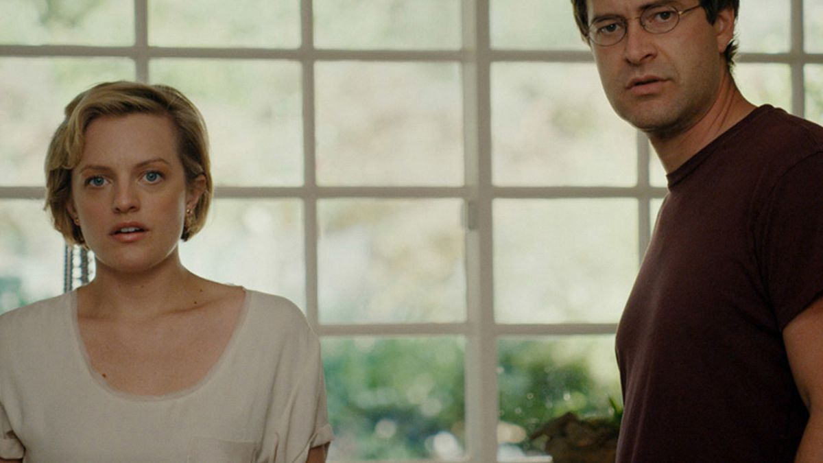 Elisabeth Moss and Mark Duplass in <i>The One I Love</i>.