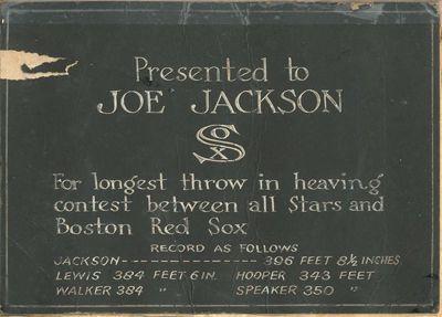 Shoeless Joe Jackson heaving contest