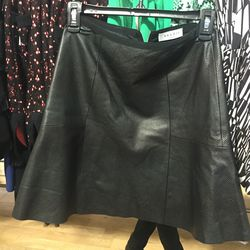 4. Sandro leather skirt ($125): While we were hard-pressed to find a lot of leather jackets, we were able to find a few leather separates, like this perforated skirt.