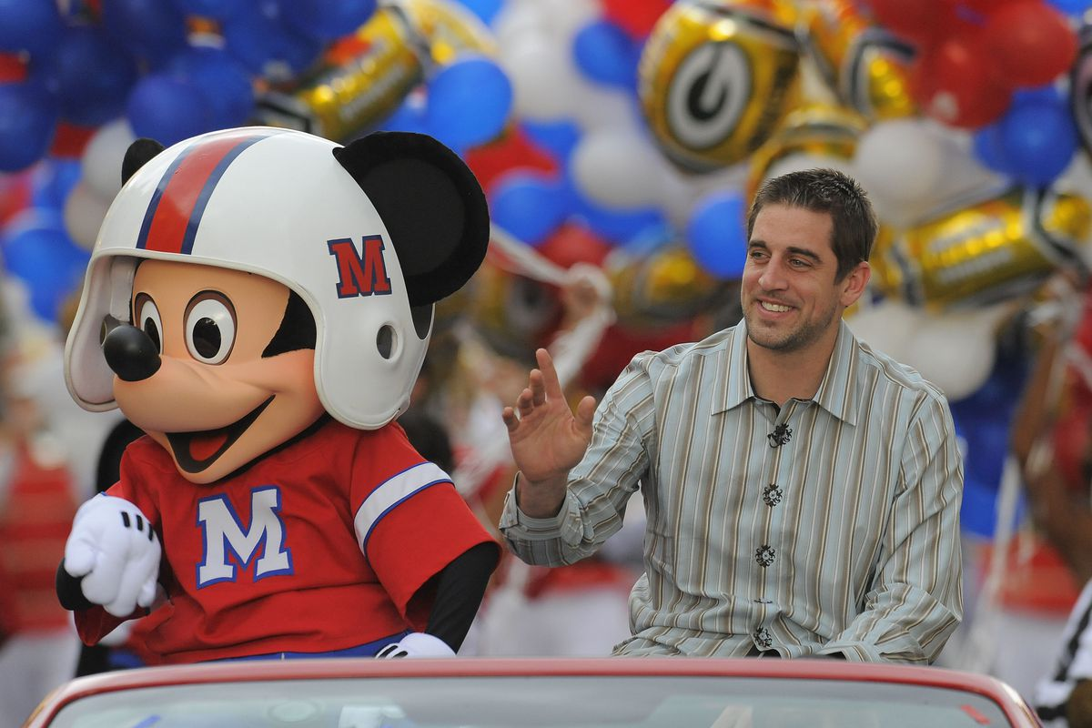 Super Bowl XLV MVP Aaron Rodgers Honored At Disney World
