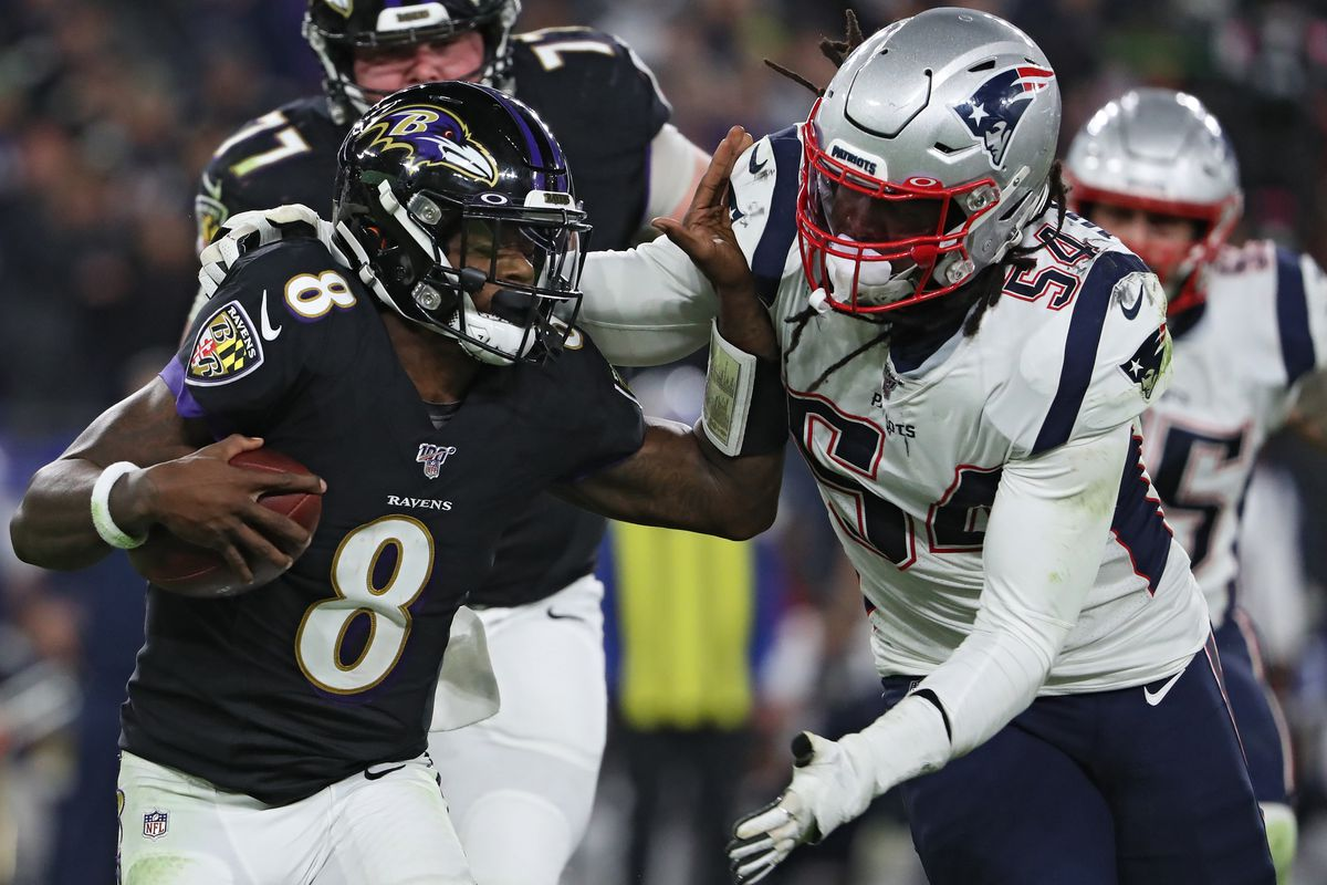 Ravens vs. Patriots final score: Lamar Jackson shines on the ground in Week  9 upset of Patriots - DraftKings Nation