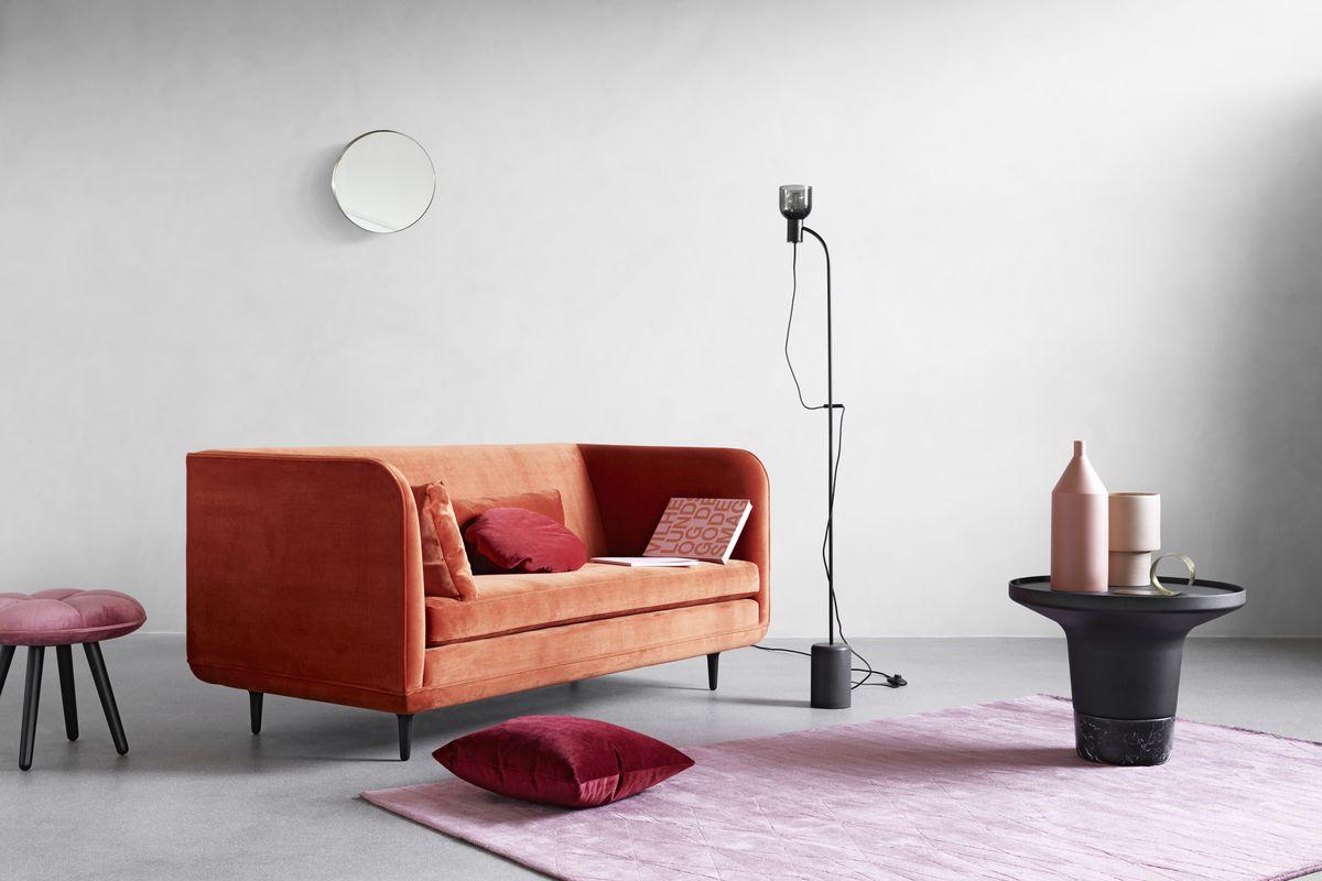 Danish design brand WON coral sofa.