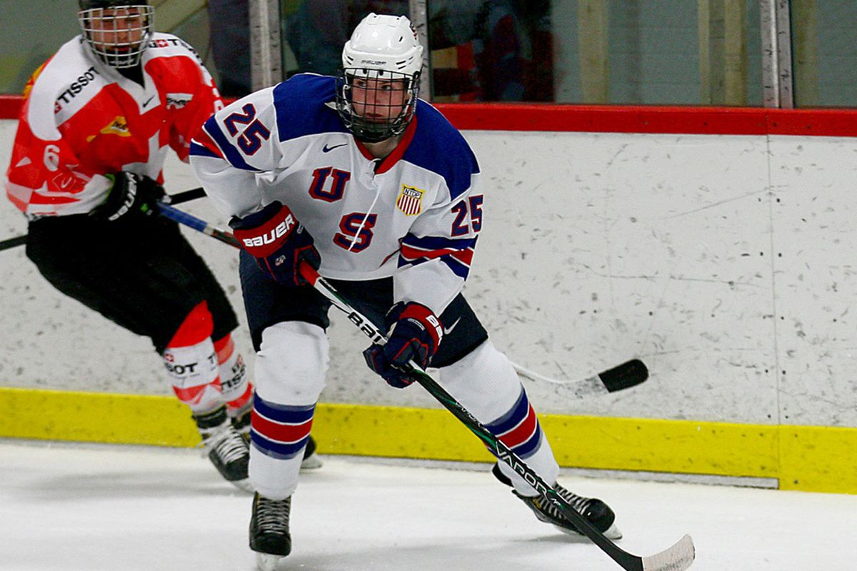 Muskegon forward Connor Hurley is one of 22 players selected for Team USA's World Junior A Challenge squad