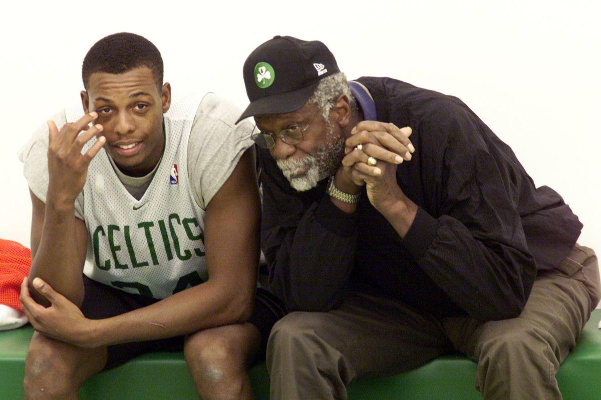 Bill Russell At Celtics Practice