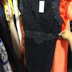 Anna Sui black lace dress, $78 (was $449)