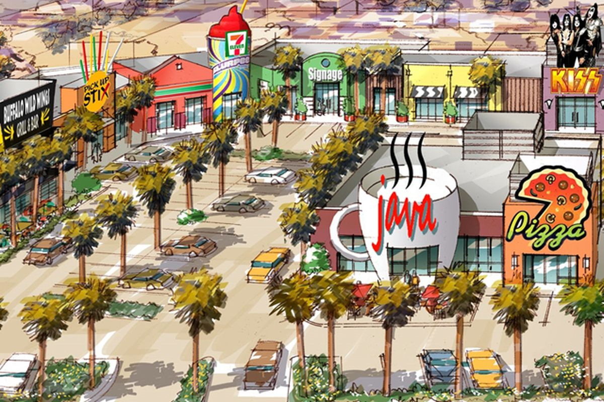 The Shoppes at Harmon Square rendering
