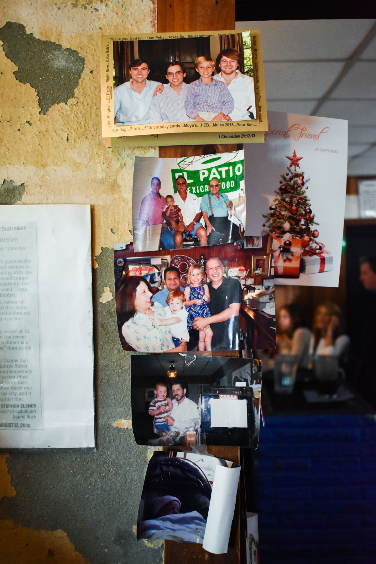 Photographs and cards at El Patio