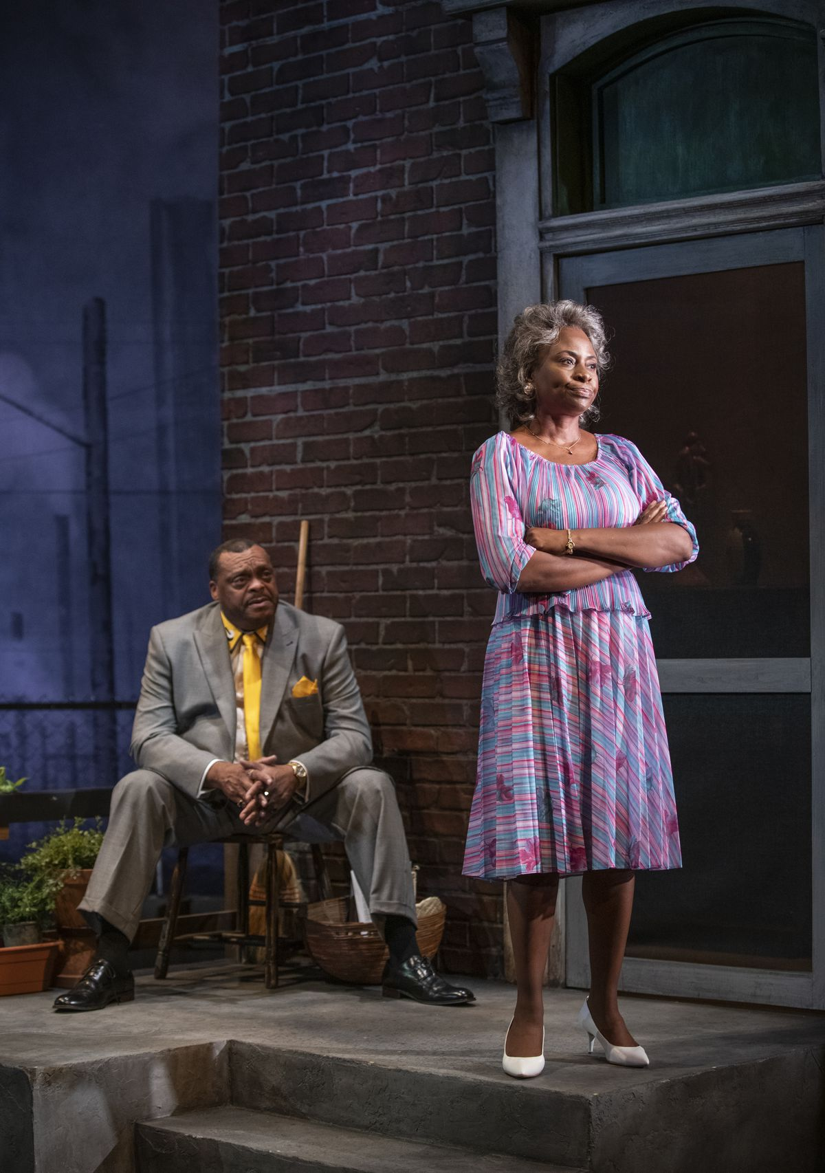 """A.C. Smith and TayLar star in """"King Hedley II"""" directed by Ron OJ Parson at Court Theatre."""