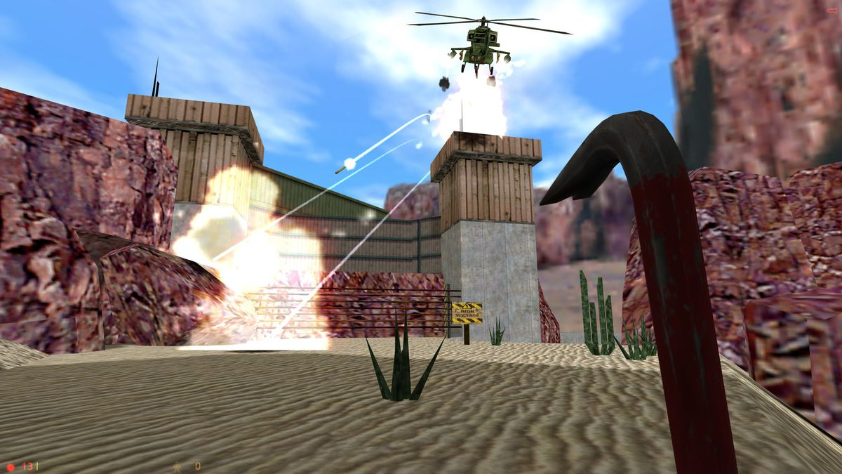 Half-Life Helicopter Cliff