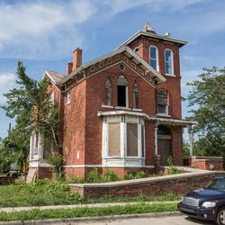 The Horace S. Tarbell House, built in 1869, possibly the oldest in Brush Park.