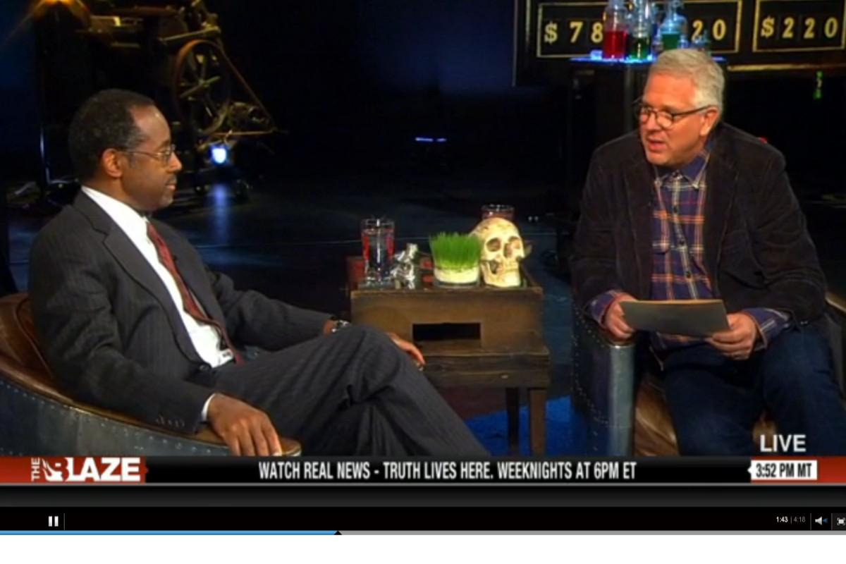 Ben Carson talks to Glenn Beck in 2013.
