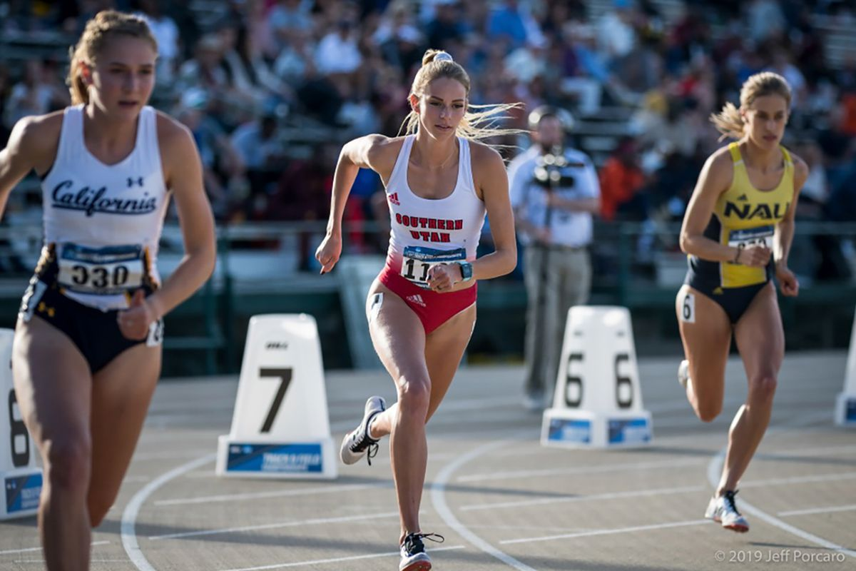 Linnea Saltz runs for Southern Utah University in this undated photo. Saltz was among several female athletes who spoke out Wednesday, Feb. 24, 2021, against allowing transgender female athletes to compete in women's sports.