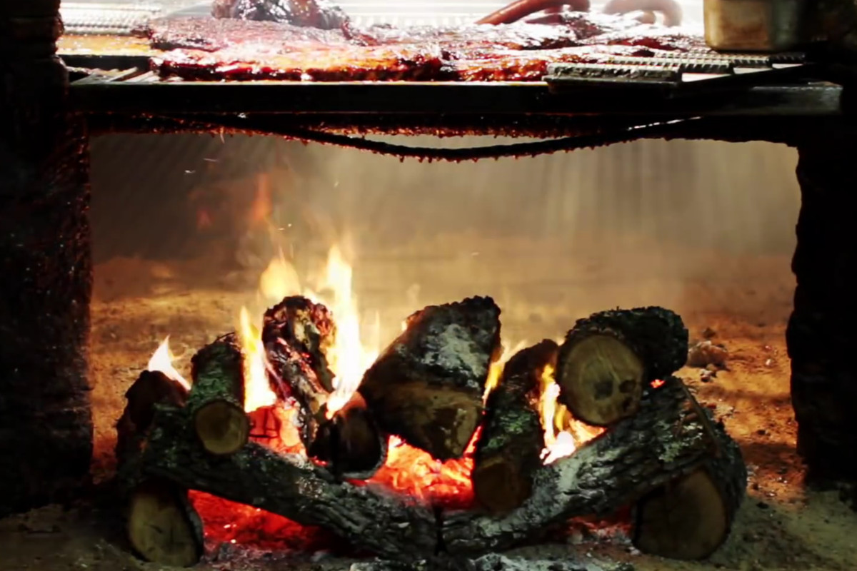 Salt Lick's holiday barbecue log