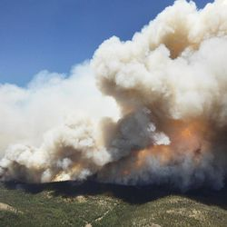 The Brian Head Fire, pictured Friday, June 23, 2017. Improved weather conditions allowed crews to gain a little ground on the Brian Head Fire on Sunday, currently the largest wildfire in the nation.