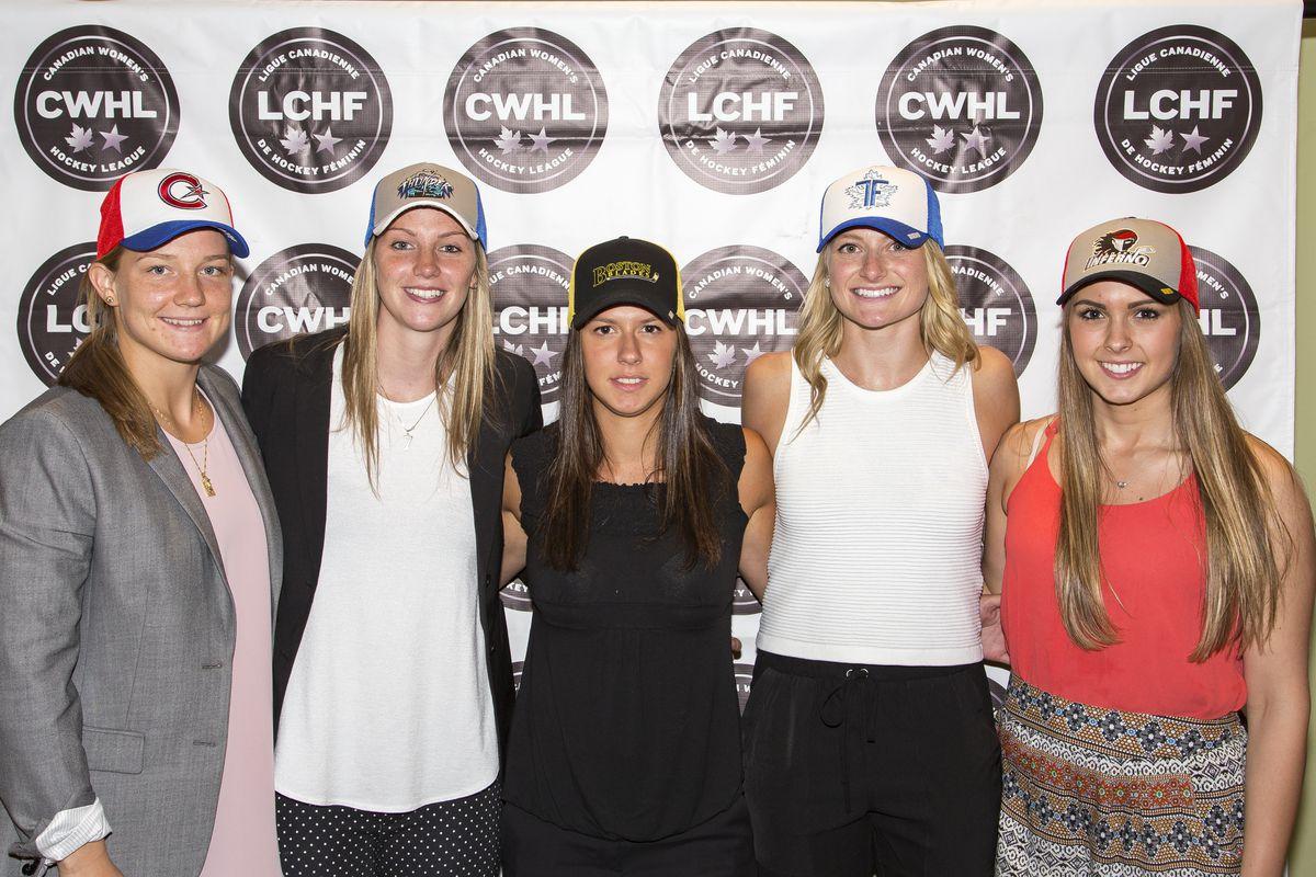 L-R: Sarah Lefort, Laura Stacey, Kayla Tutino, Renata Fast, Emerance Maschmeyer