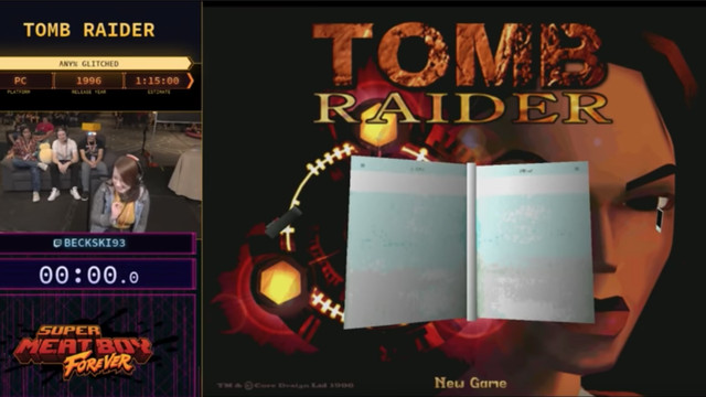 Beckski93 running <em>Tomb Raider</em> at Summer Games Done Quick 2018 on Tuesday.