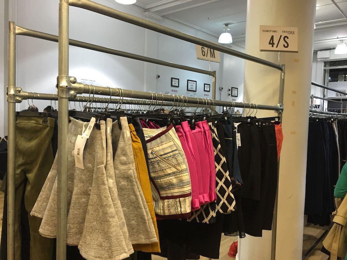 Skirts at the Elizabeth and James sample sale