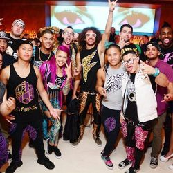 Redfoo and his Le Freak crew were spotted at Andrea's on Wednesday night. Photo: Aaron Garcia