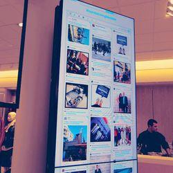 The #NordstromGlendale digital hashtag board.