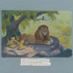 <b>Mel Shaw, concept art for The Lion King, c. 1992.</b>