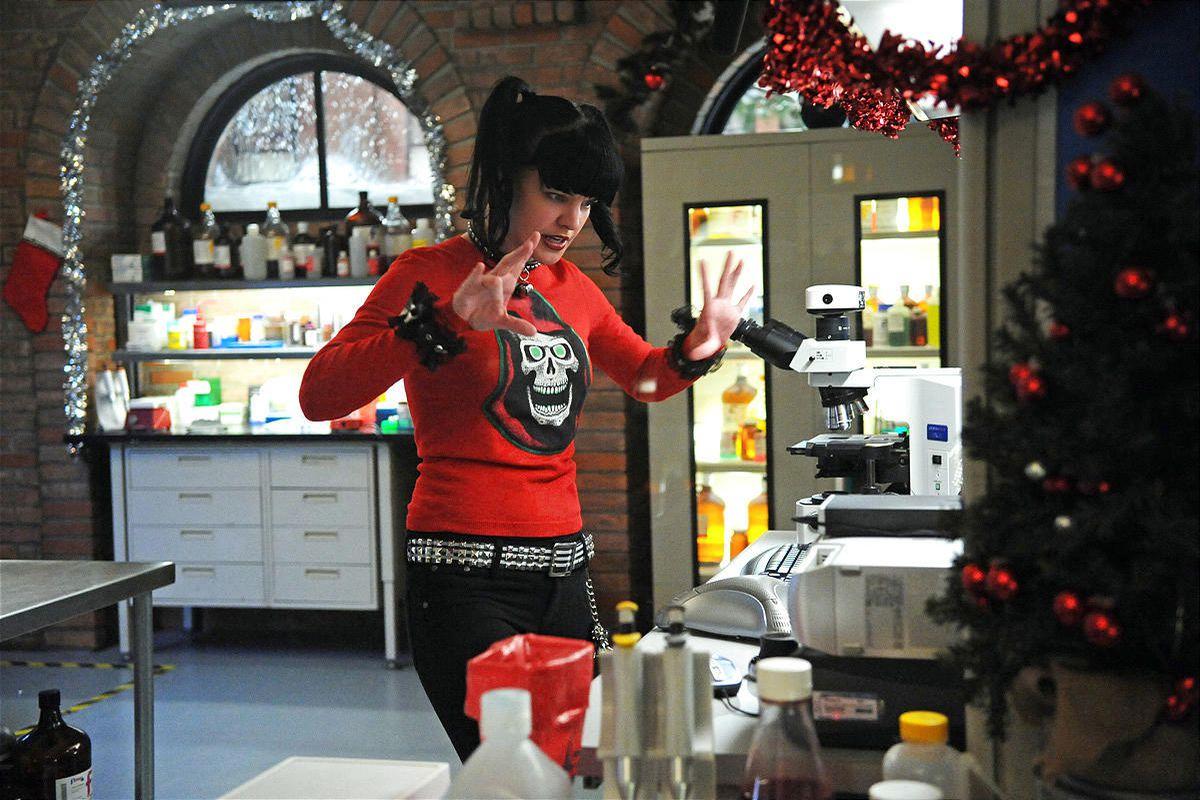 "Pauley Perrette stars as Abby Sciuto, the Goth lab rat on CBS's crime procedural ""NCIS."""