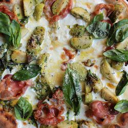 """Lombarda Pizza from Basil Brick Oven Pizzeria by <a href=""""http://www.flickr.com/photos/bradleyhawks/8475367379/in/pool-eater"""">Amuse * Bouche</a>"""