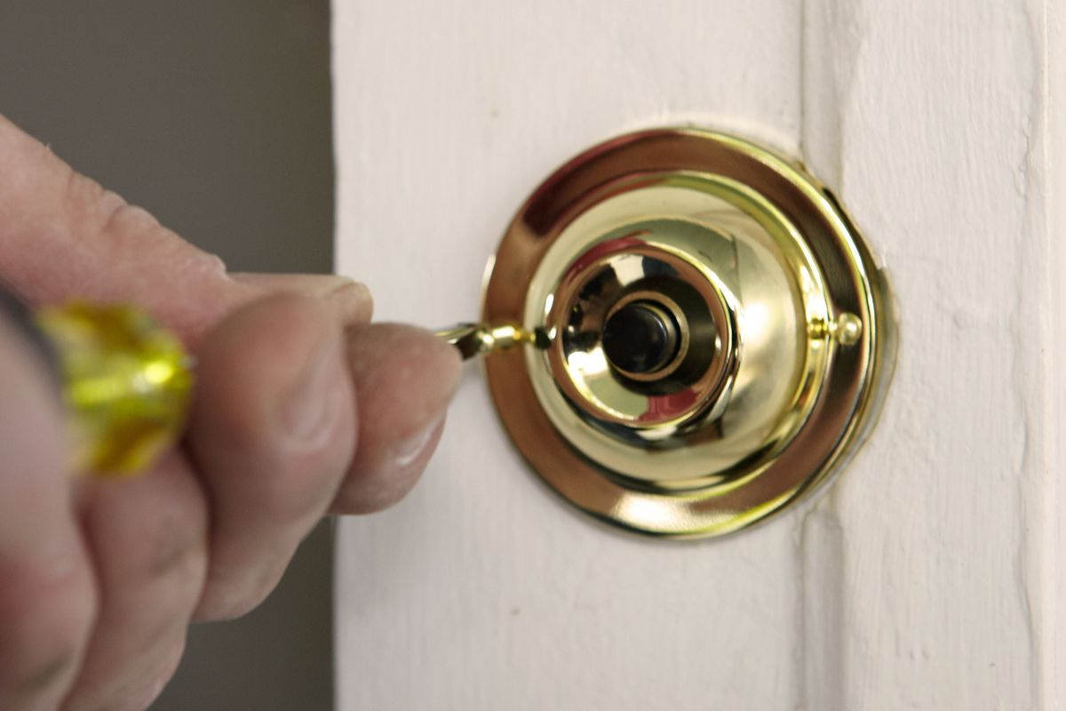 Replace button on doorbell.