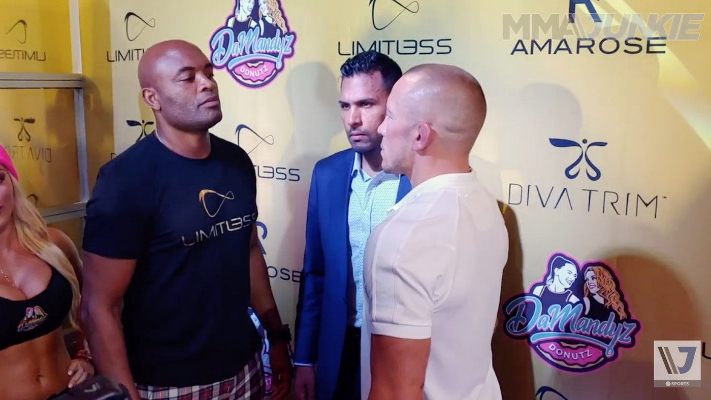Video: George St-Pierre stares down Anderson Silva in Las Vegas for UFC 'super fight' that never happened