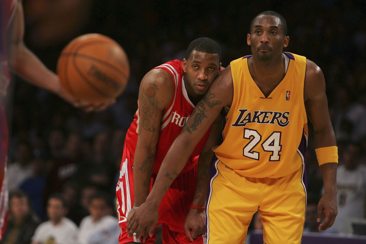 6877b5225c1 The Lakers almost traded for Tracy McGrady to team up with Kobe Bryant and  Shaq