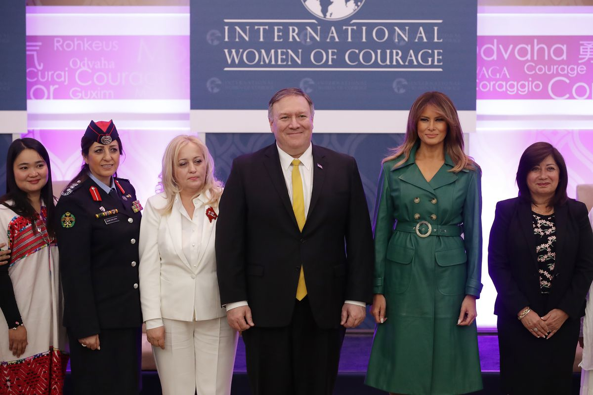Secretary Of State Pompeo And First Lady Melania Trump Attend International Women Of Courage Awards