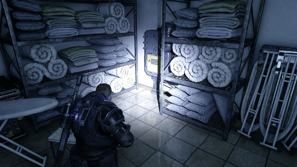 Gears 5 Act 1 Chapter 4 The Tide Turns component location in the laundry room