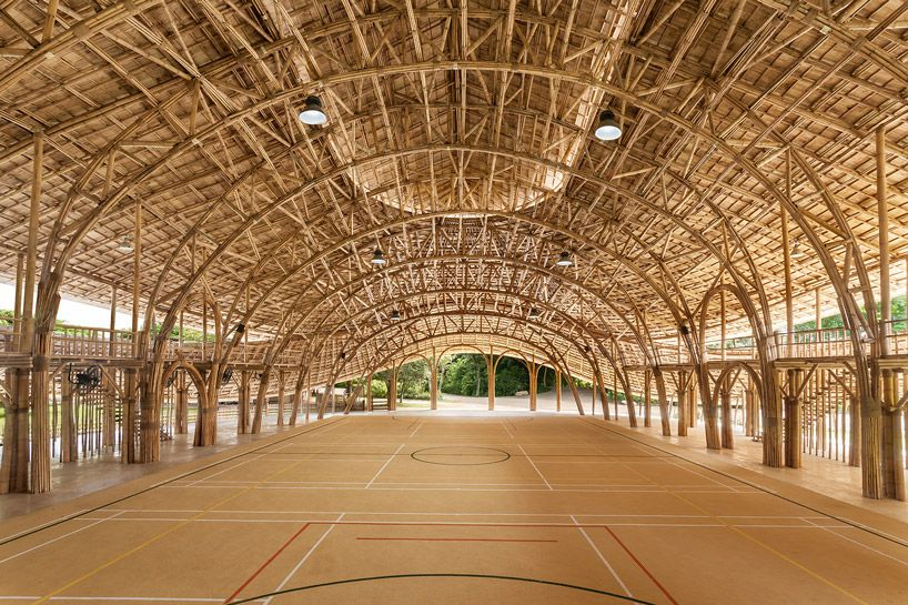 all-bamboo sports hall