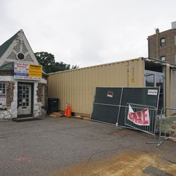 Could be a temporary Clark Street Sports Store going up in the lot at Patterson and Clark