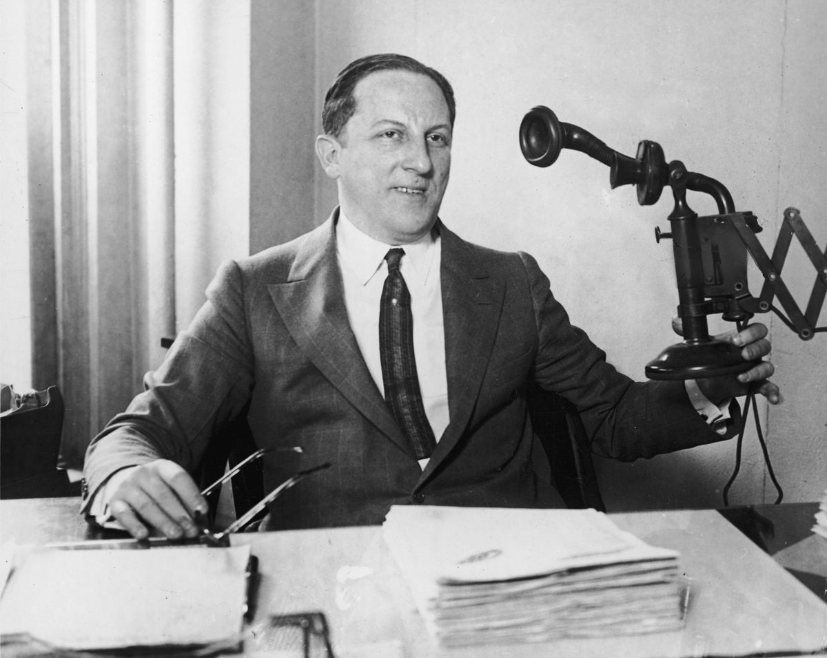 Arnold Rothstein, the Jewish mobster who allegedly fixed the 1919 World Series. Lately, he's been a character on HBO's Boardwalk Empire. (