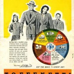"""Toffenetti Vitatlity menu ad via <a href=""""http://collectibles.bidstart.com/Toffenetti-Vitality-Menu-New-York-and-Chicago-1940-s-/18261988/a.html"""">Collectibles Marketplace</a>."""