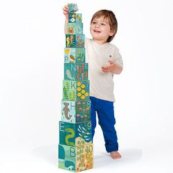 Little toddlers will love learning their ABCs and 123s with Petit Collage's <b>Ocean Nesting Blocks</b>. Each of the ten cardboard boxes stack up to three feet high, giving tots lots of fun building up their under the sea world. The boxes are made of 80%