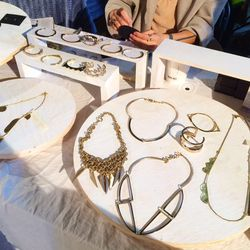 """<a hrefe=""""http://anniecostellobrown.com/""""target=""""_blank"""">Annie Costello Brown</a>'s mixed media jewelry is inspired by her California roots."""