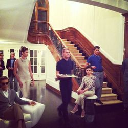 The event was held at a stunning private residence, complete with live mannequins sporting the collection.