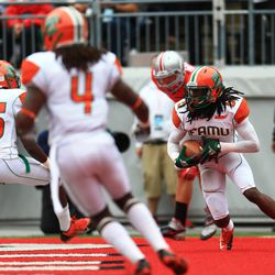 FAMU with an interception in the end zone.