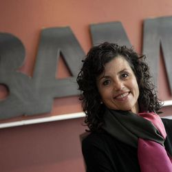 This April 24, 2012, photo shows Pamela Cole at the BAM Architecture Studio in New York's Soho neighborhood. Cole says BAM took a calculated risk and set up a satellite office in Durham, N.C., when one of the best young architects said last summer that he was leaving to North Carolina for personal reasons.