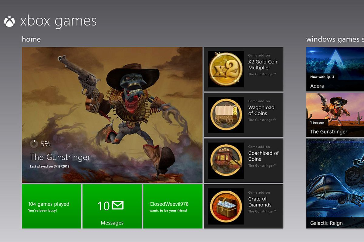 Xbox Games and SmartGlass apps updated for Windows 8 and RT