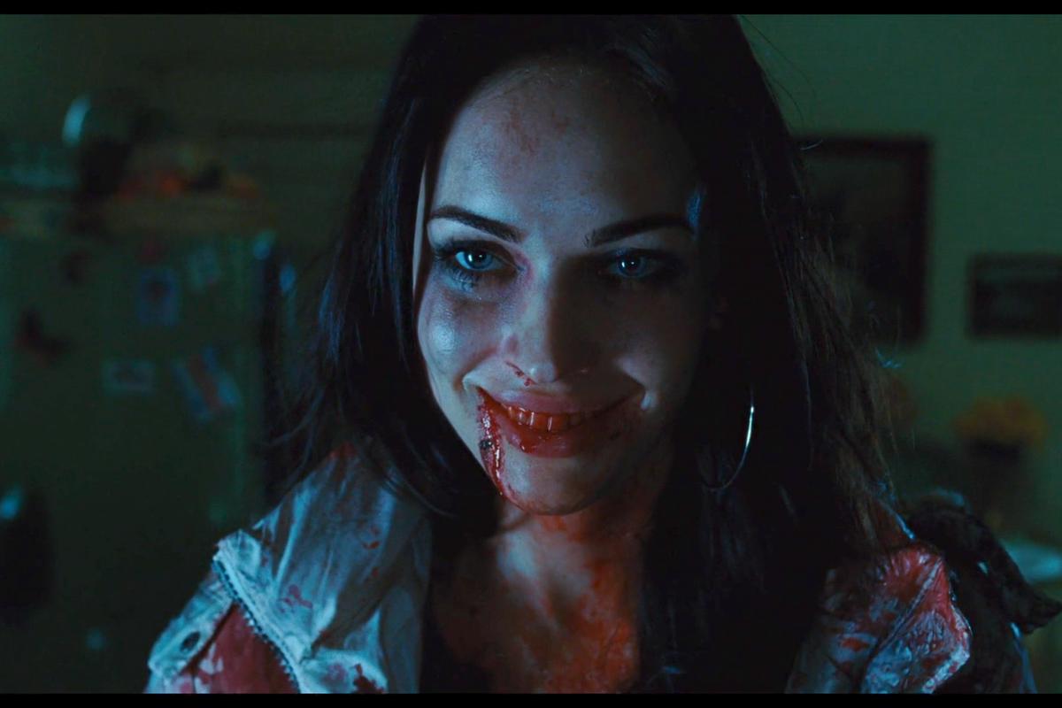 jennifer's body: Megan Fox with a bloody smile