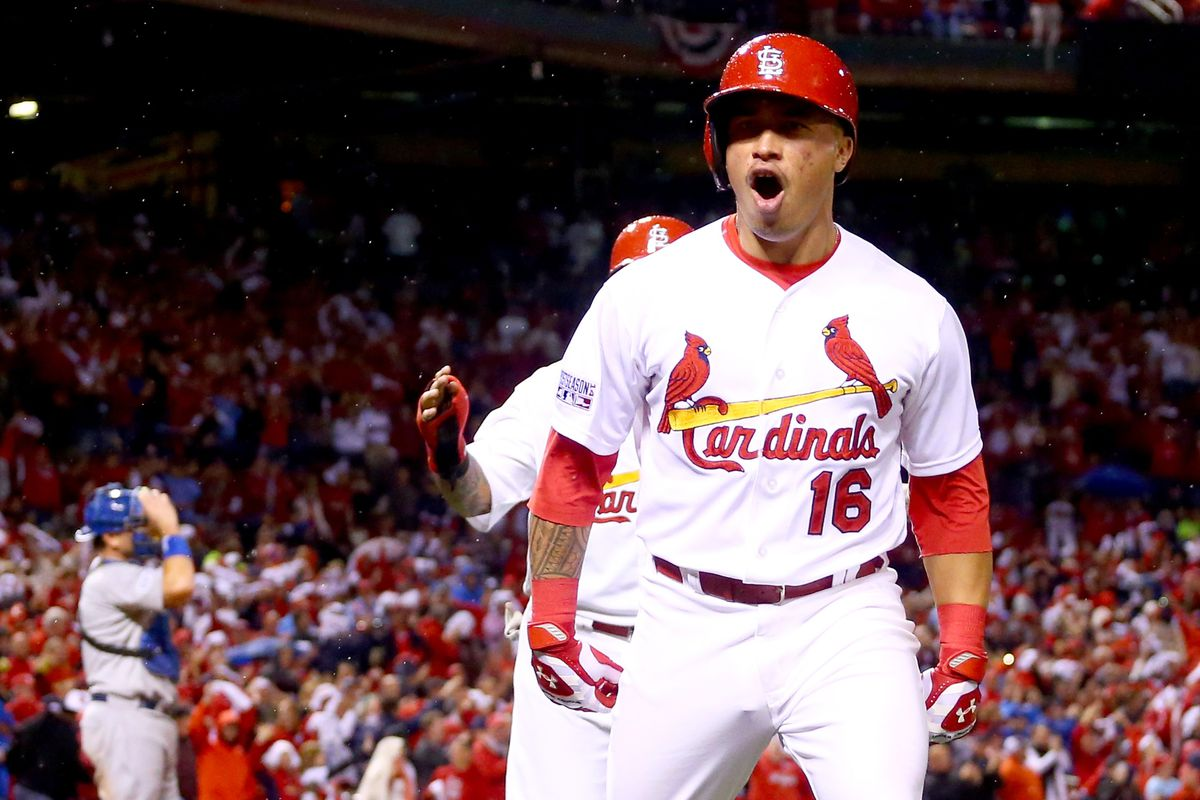 Wong is pumped up after his home run gives the Cardinals the lead