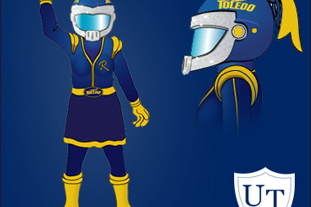 """Well, that's certainly a female mascot. (via <a href=""""http://www.toledoblade.com/UT/2011/08/03/Her-name-is-Rocksy.html"""">www.toledoblade.com</a>)"""