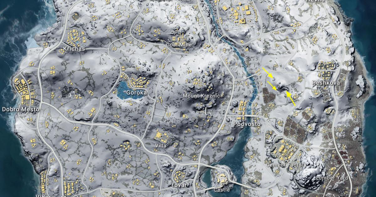 Вся карта Викенди в ПАБГЕ