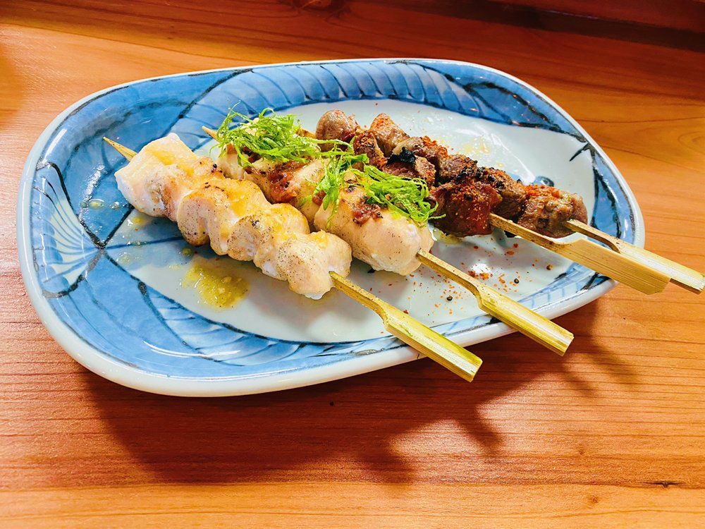 Beef skewers from Shokudou