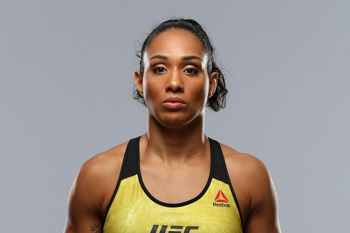 Talia Santos poses for a portrait during a UFC photo session on January 30, 2019 in Fortaleza, Brazil.