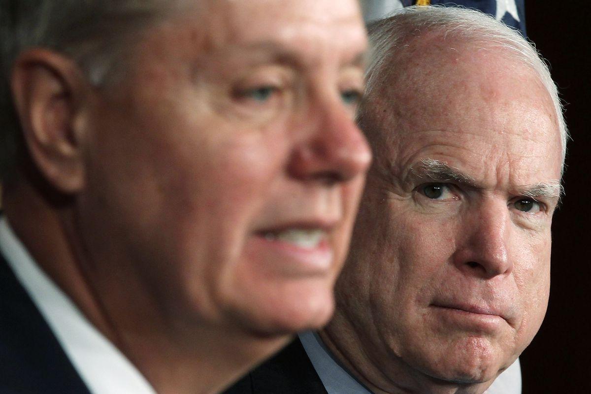 Sen. John McCain Holds News Conference On Syria